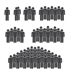 man crowd on white background vector image