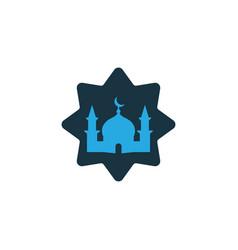 Masjid colorful icon symbol premium quality vector