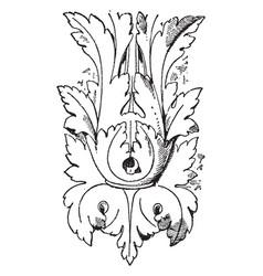 Modern leaf design is found in louvre vintage vector