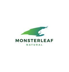 monster leaf logo icon vector image