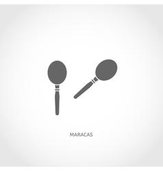 Musical instrument maracas flat icon vector image