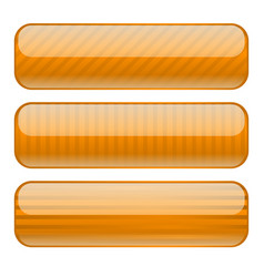 Orange rectangle buttons blank icons with stripe vector