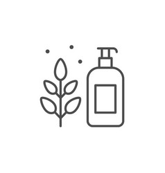 Organic cosmetic line outline icon vector
