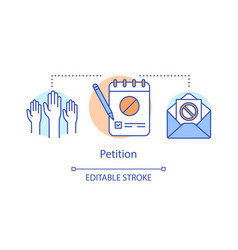 Petition concept icon signature collection public vector