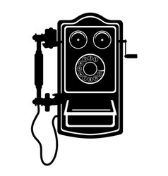 Phone old retro vintage icon stock vector