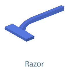 razor icon isometric 3d style vector image