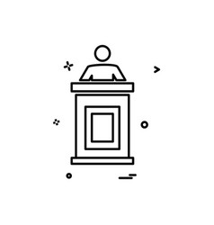 reception icon design vector image