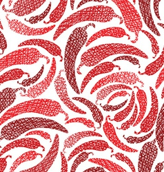 Red Hot Chilly Peppers seamless pattern Mexican vector image