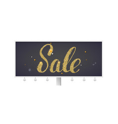 sale billboard with calligraphic lettering vector image