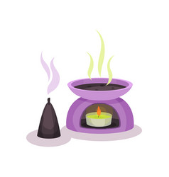 Scented candles aromatherapy vector