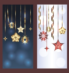 Set of two banners for christmas and new year vector image