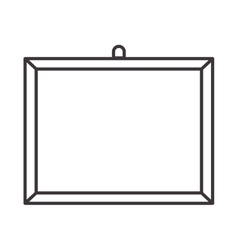 Silhouette Board for classes empty vector