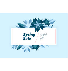 spring sale design template with beautiful vector image