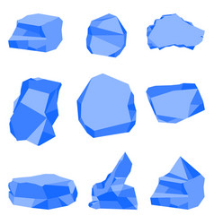 stones blue color set vector image
