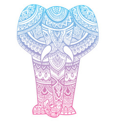stylized head an elephant ornamental portrait vector image