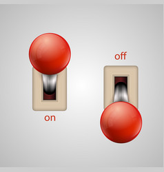 Switch lever vector