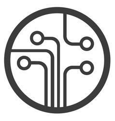 technology scheme symbol flat vector image