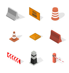 under construction design elements in 3d vector image