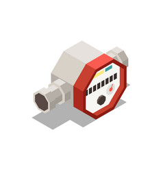 Water meter isometric composition vector