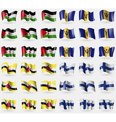Western sahara barbados brunei finland set of 36 vector