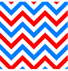 red and blue zigzag seamless pattern vector image vector image