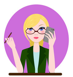 support manager woman icon cartoon flat vector image