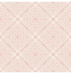White curly graphic pattern on light background vector image