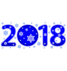 abstract winter 2018 lettering vector image