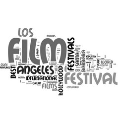 best film festivals text word cloud concept vector image vector image