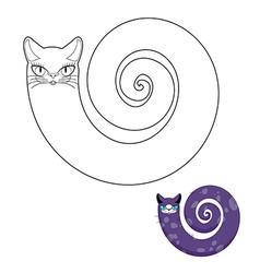 Cat breeds cat snake coloring book Fabulous pet vector image