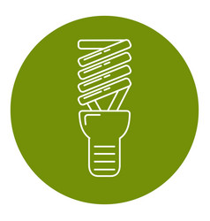 energy saving light bulb icon in thin line style vector image