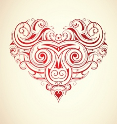 floral heart print vector image