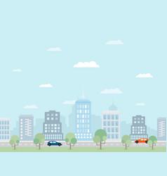 future city2 vector image vector image