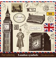 set of london symbols vector image