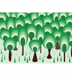 vector forest vector image