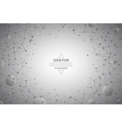 3d Abstract Technology Gray Background vector image