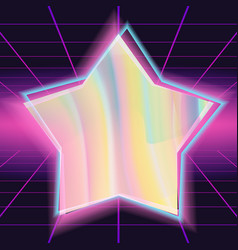 80s background different colors hologram vector image