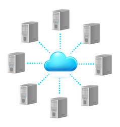 cloud computing symbol for design on white vector image vector image