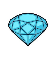 Diamond retro tattoo symbol Cartoon old school vector image