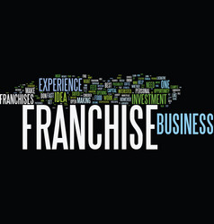 franchise ideas what franchise is best for you vector image vector image