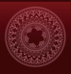 mandala decoration vintage tribal vector image
