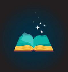 Open book concept design vector image
