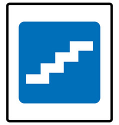 stair up sign isolated on vector image
