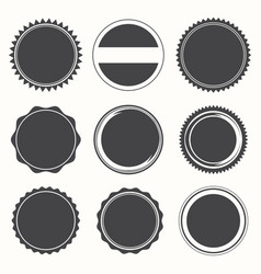 blank round stamps for logo vector image