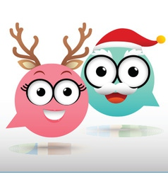 Couple Chat Christmas vector image vector image