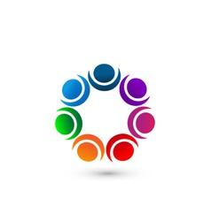 People social networking app icon logo vector