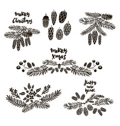 set of doodle elements vector image