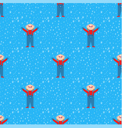 snowflake kid weather traditional winter vector image