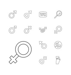 13 sex icons vector