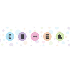 5 keyboard icons vector image